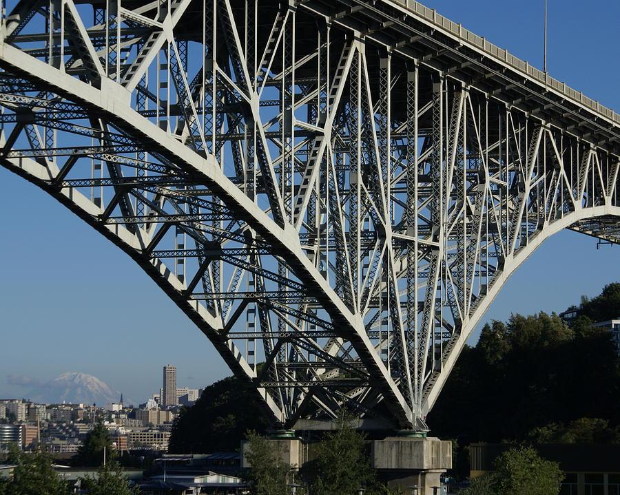 Architecture Photograph - Aurora Bridge - Seattle by Sonja Anderson