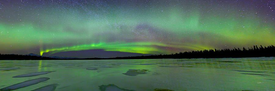 Alaska Photograph - Aurora Bridge by Ed Boudreau