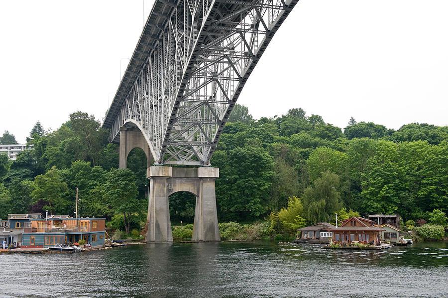 Seattle Photograph - Aurora Bridge by Tom Dowd