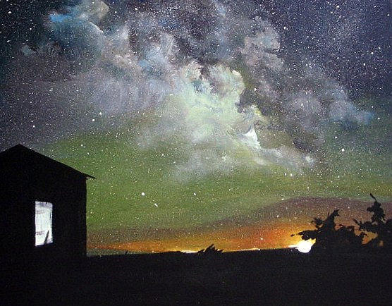 Aurora Lights Painting by Annmarie Vierick