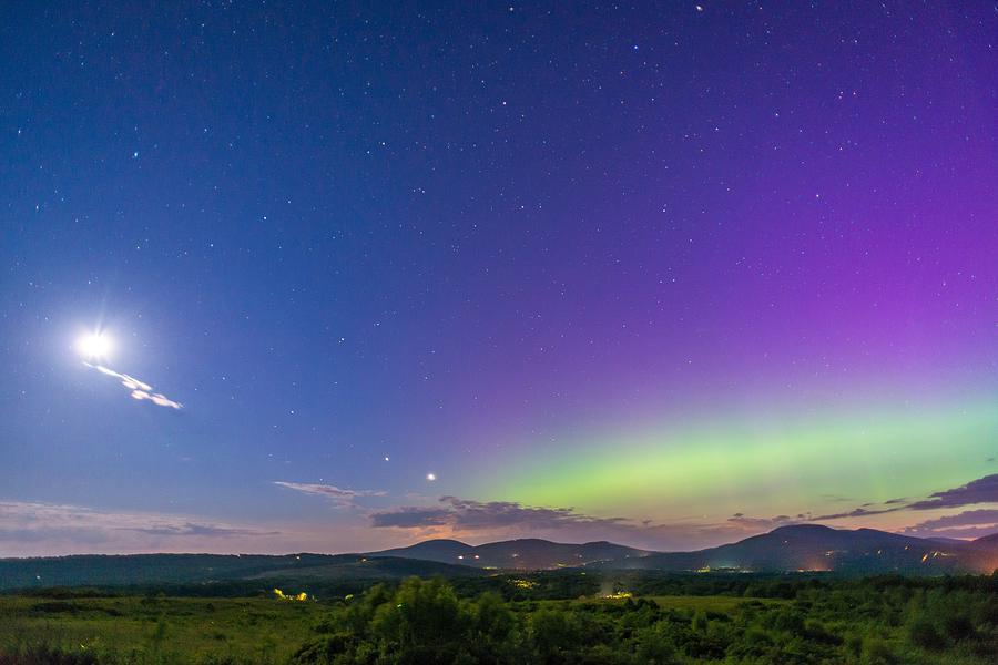 Aurora Moon Jupiter And Venus Photograph by Tim Sullivan