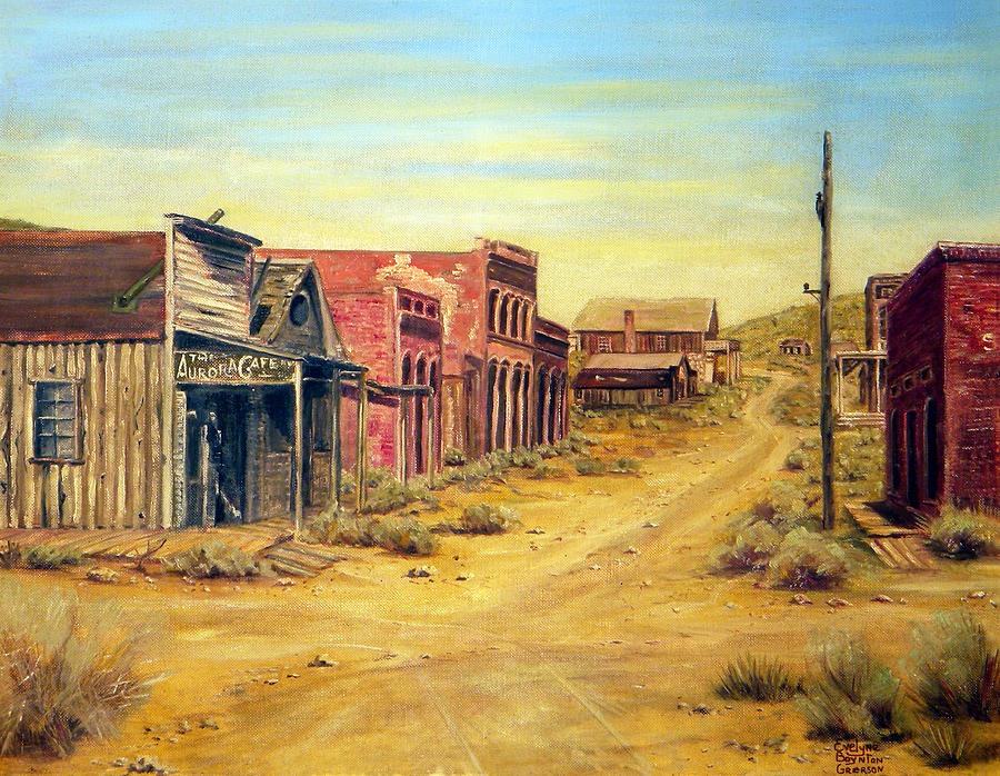West Painting - Aurora Nevada by Evelyne Boynton Grierson