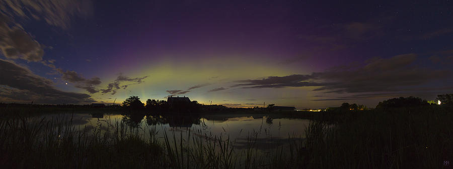 Aurora Photograph - Aurora Panorama by John Meader