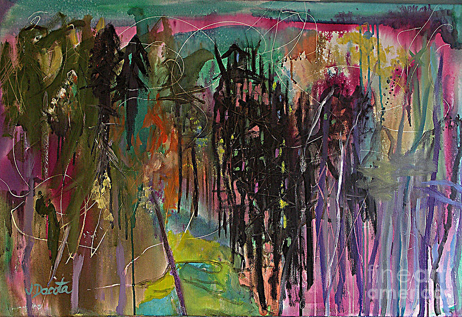 Abstract Painting - Auroras Magic by Jen Dacota