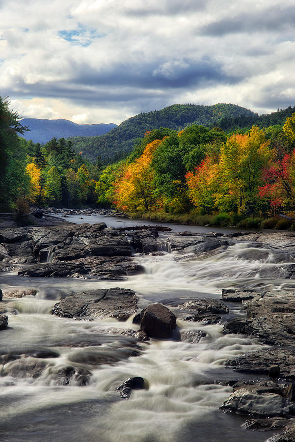 Fall Photograph - Ausable River Jay Ny by Mark Papke