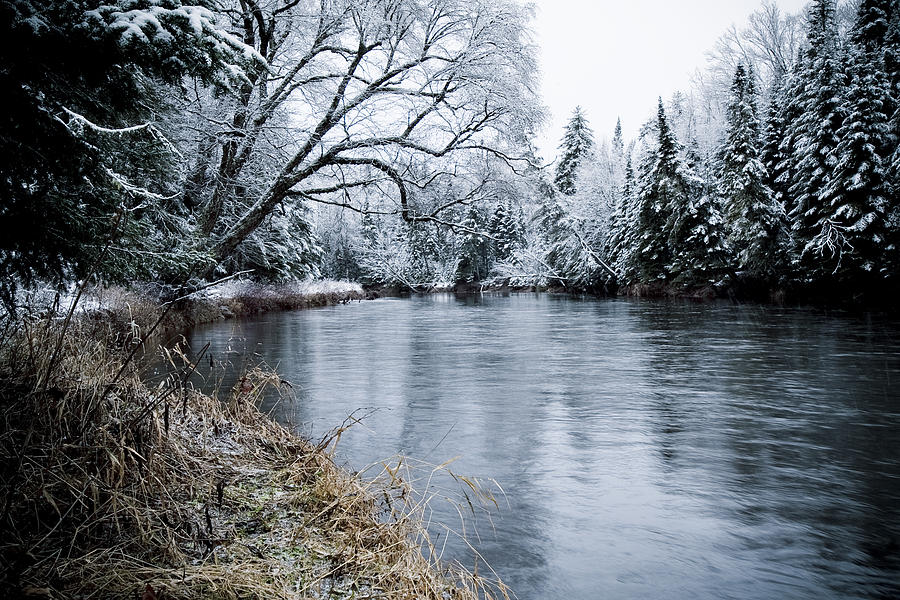 Scenic Photograph - Ausable Winter by Todd Bissonette