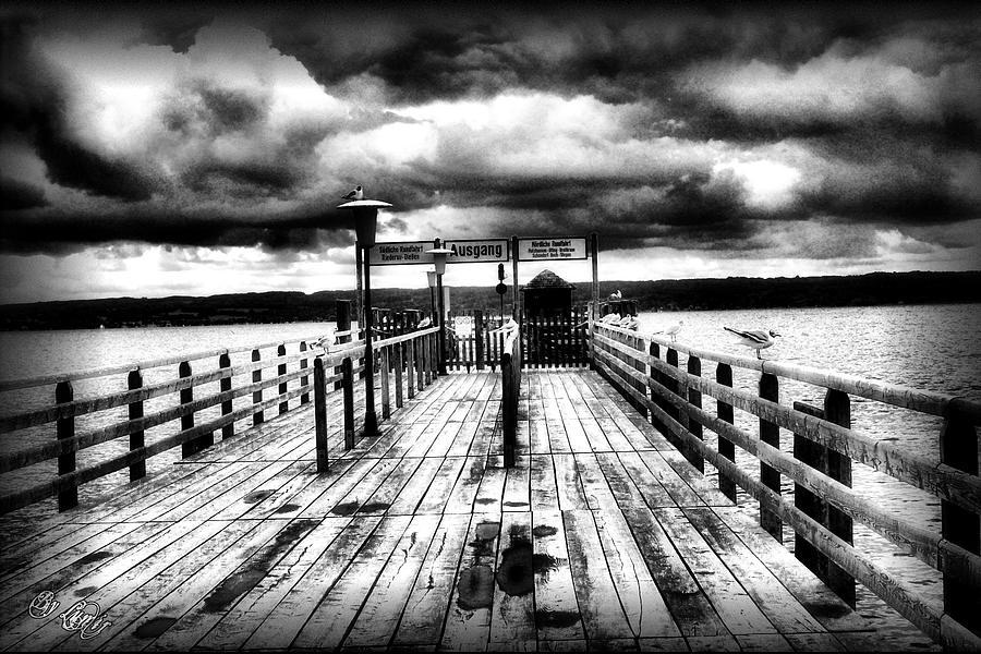Photo Digital Art - Ausgang Bw by Ivan Csorgo