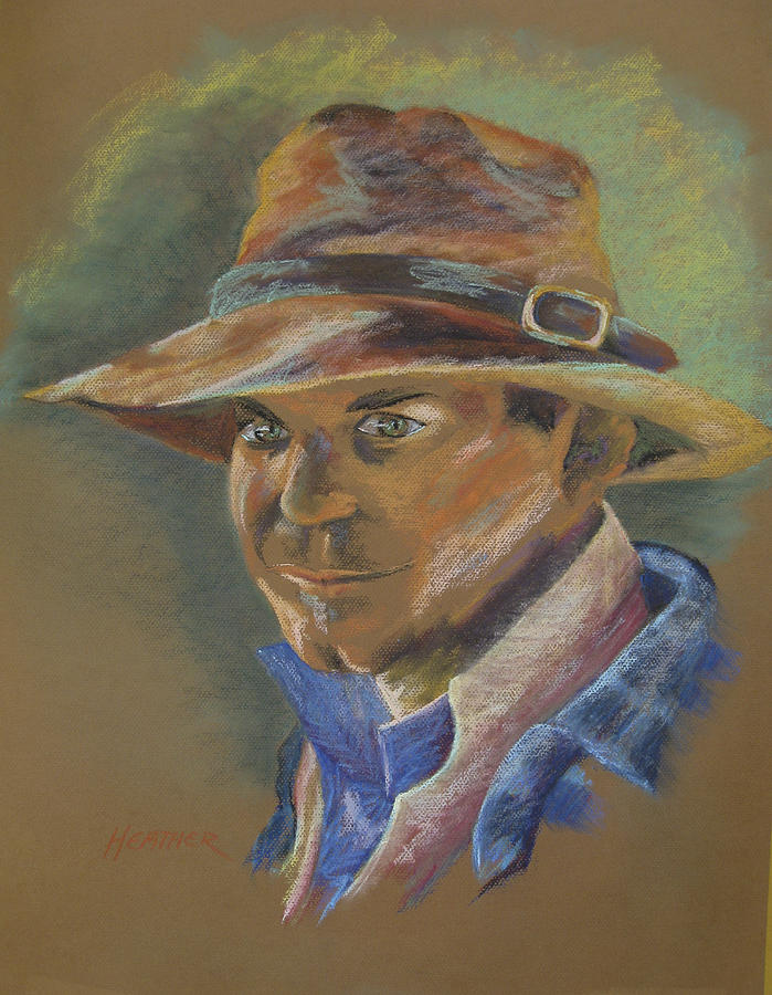 Man Painting - Aussi-guy by Heather Parlane