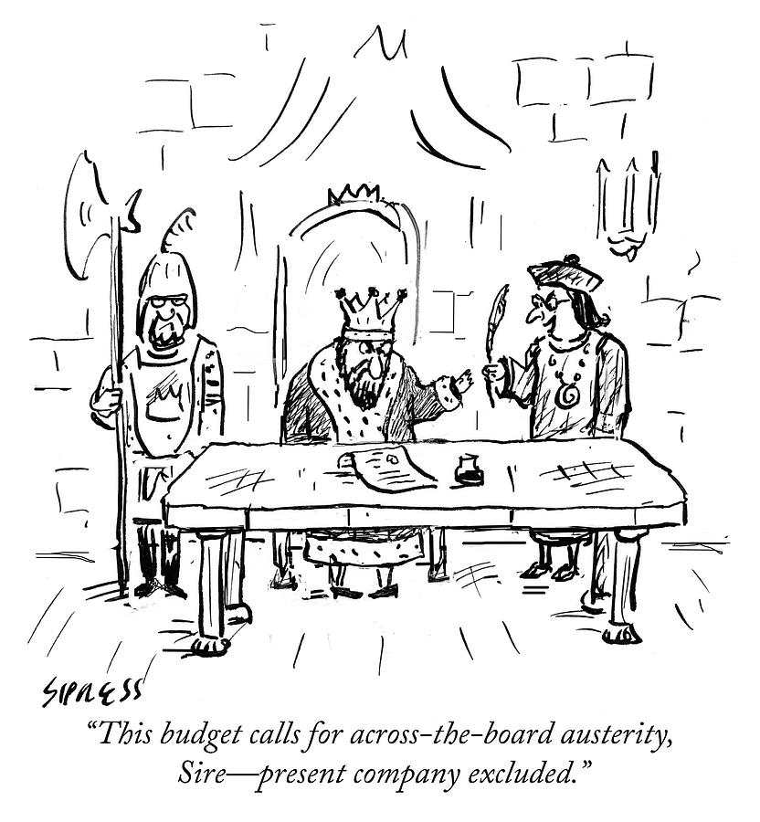 Austerity Drawing by David Sipress