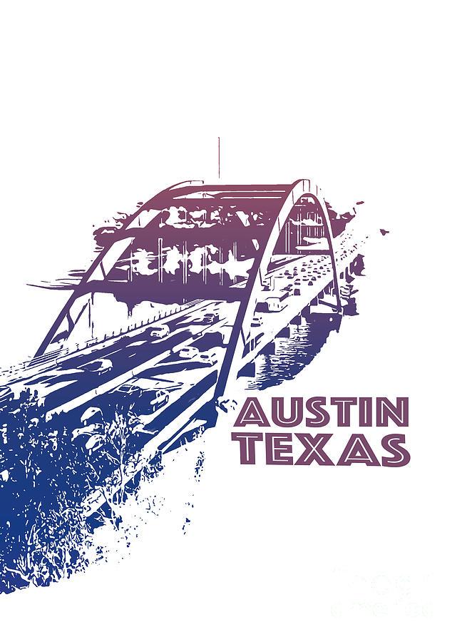 Texas Photograph - Austin 360 Bridge, Texas by PorqueNo Studios