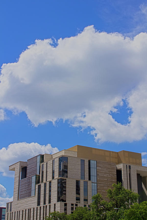 City Digital Art - Austin Federal Courthouse Under A Cloud by Thomas Kemper