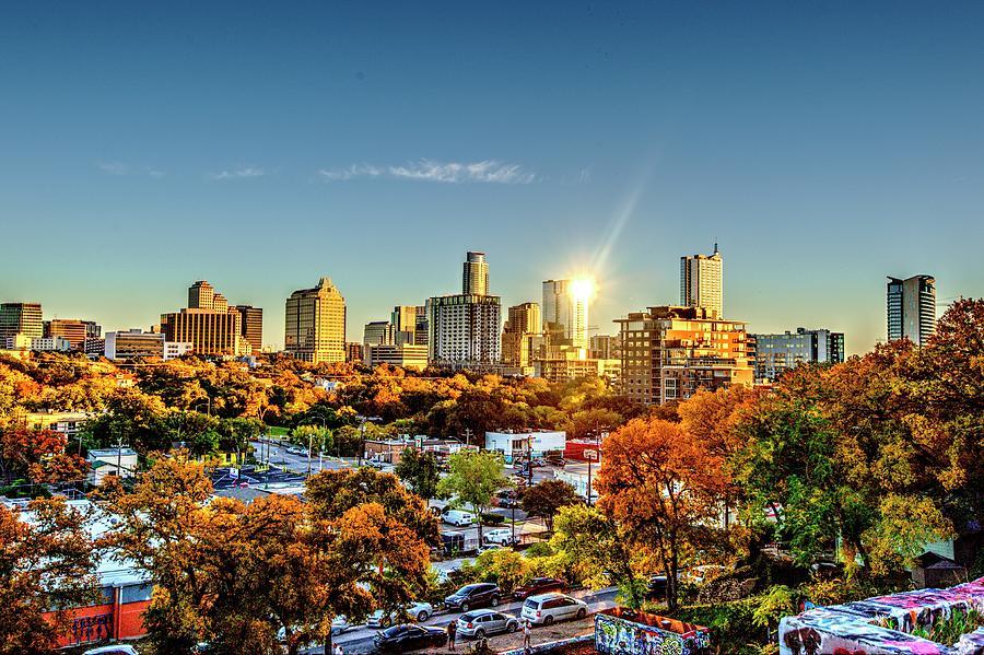 Austin Photograph - Austin in the Evening by Roy Nierdieck