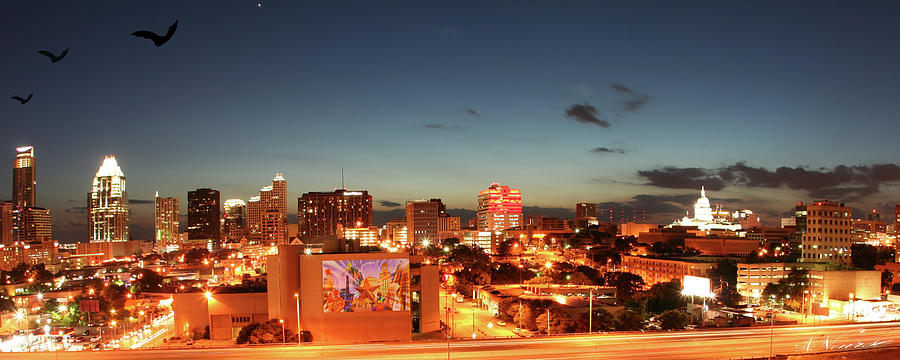 Photography Photograph - Austin Night by Andrew Nourse