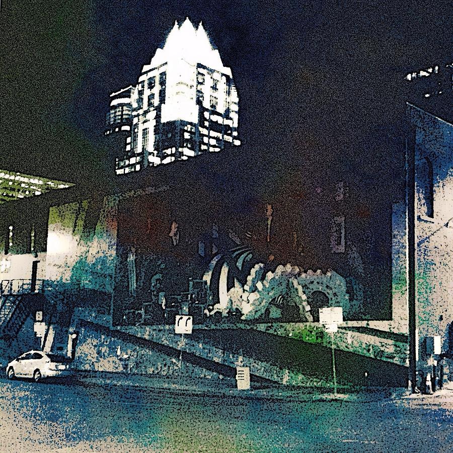 Austin Digital Art - Austin Night by Cooky Goldblatt
