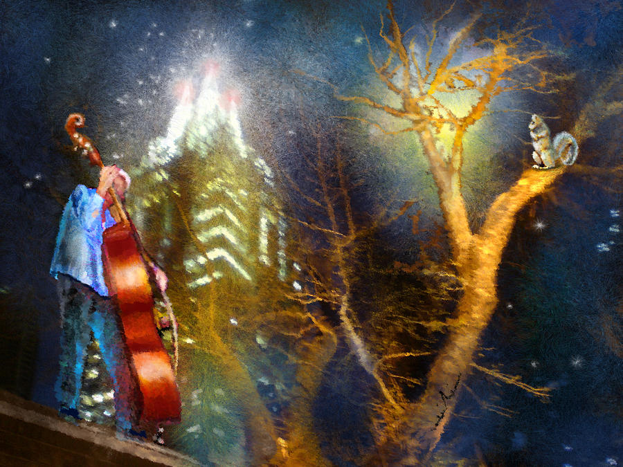 Music Painting - Austin Nights 02 by Miki De Goodaboom