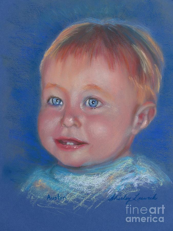 Child Painting - Austin by Shirley Leswick