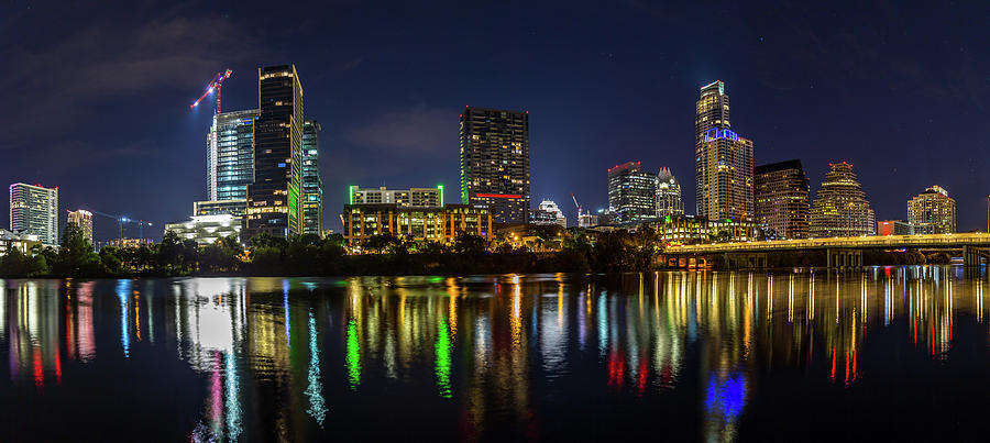 Austin Skyline at Night by Tim Stanley