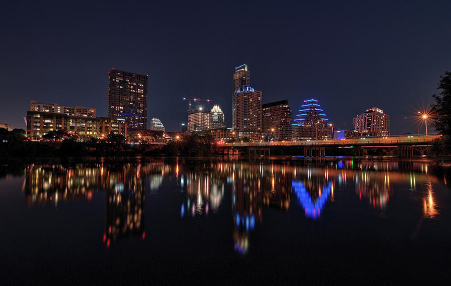 Austin Skyline At Night by Todd Aaron