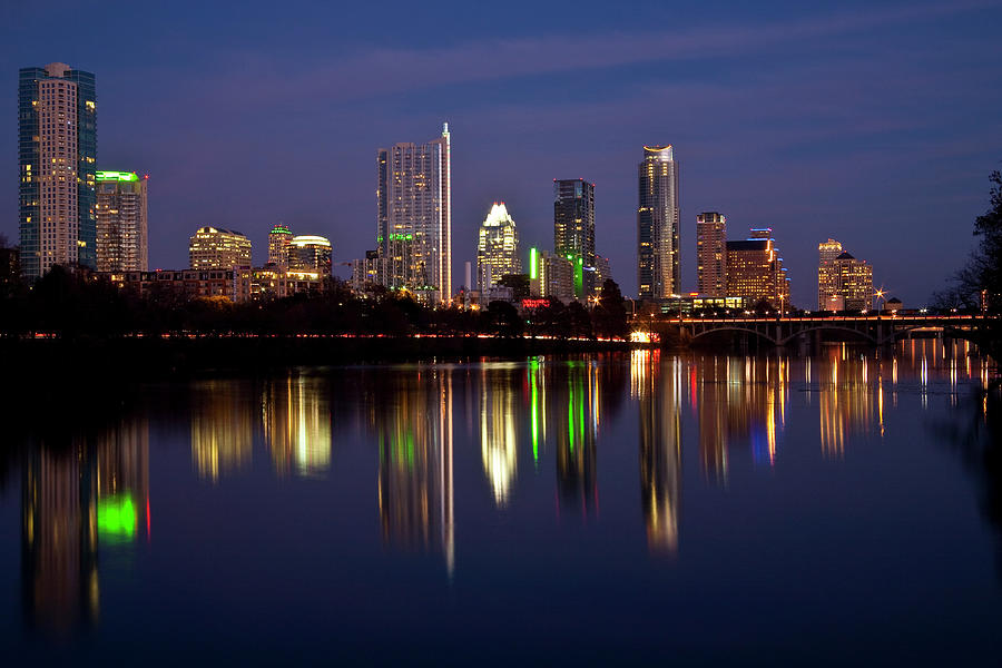 Austin Photograph - Austin Skyline by Mark Weaver