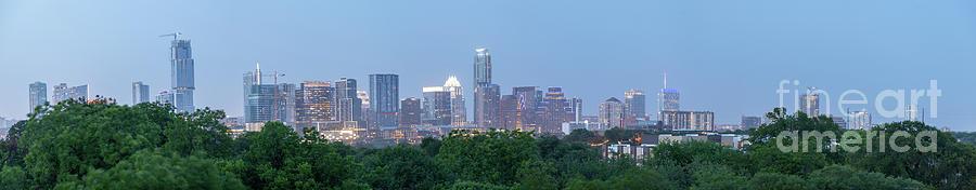 Austin Photograph - Austin Texas Building Skyline After The The Lights Are On by PorqueNo Studios