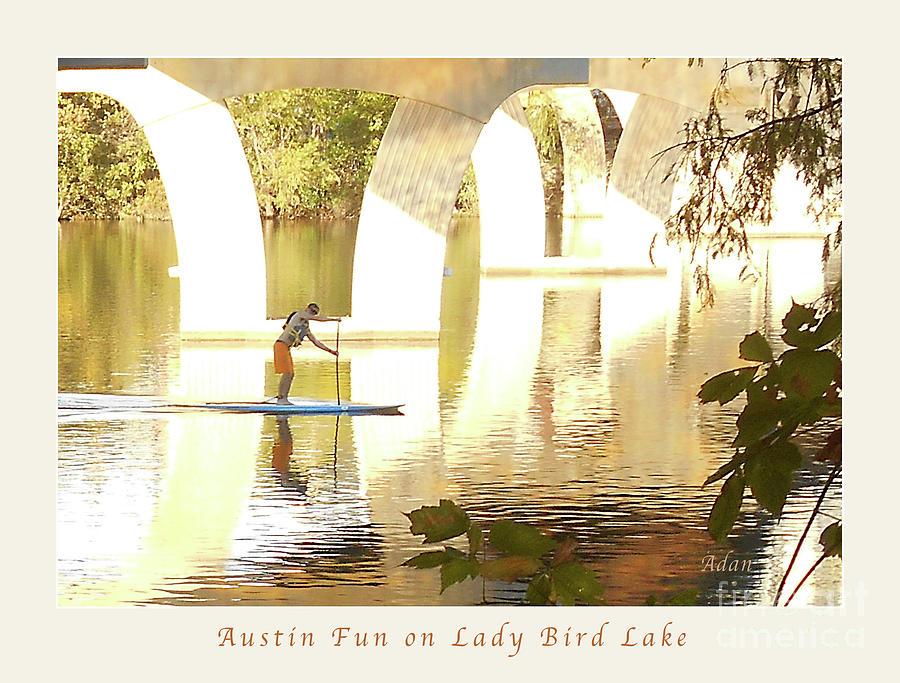 Austin Texas Photograph - Austin Texas - Lady Bird Lake - Mid November Three - Greeting Card by Felipe Adan Lerma