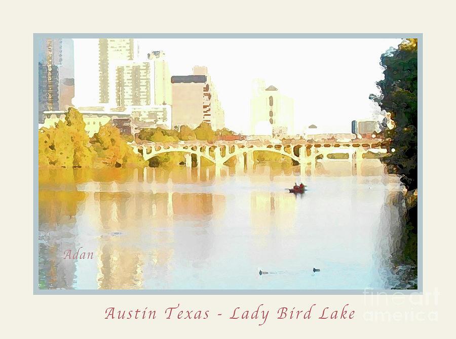 Austin Texas Photograph - Austin Texas - Lady Bird Lake - Mid November - Two - Art Detail Poster by Felipe Adan Lerma