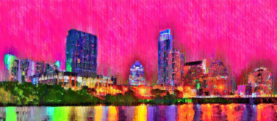 Austin Texas Skyline 112 - Pa Painting