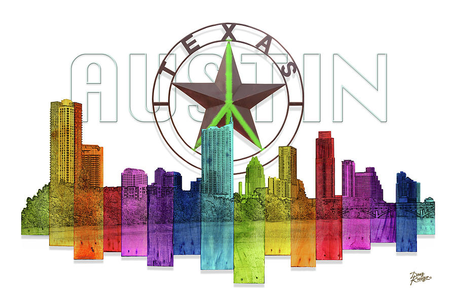 Austin Texas Skyline by Doug Kreuger