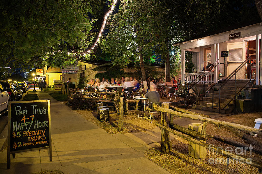 Austins East Side Features A Line Of Hip New Open Air Patio Bars Cafes And Authentic Restaurants
