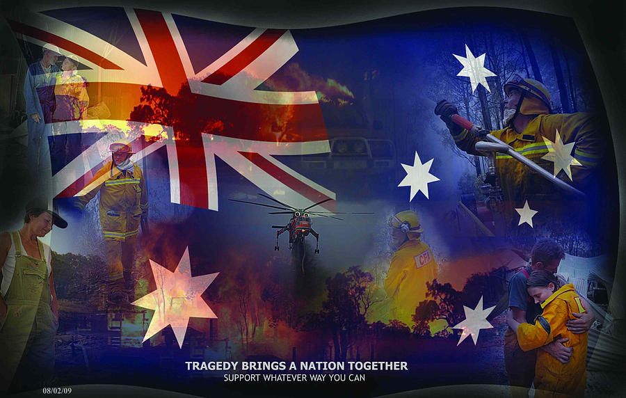 Photo Manipulation Digital Art - Australia Came Together by Michelle Dick