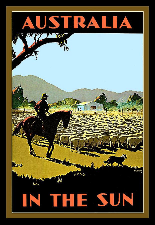 Australia Painting - Australia, Shepherd by Long Shot