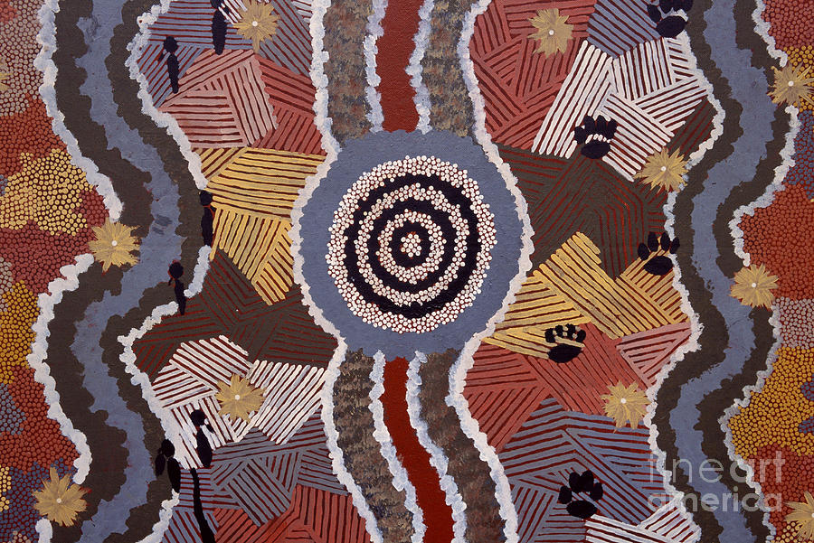 Australian Aboriginal Dot Painting Photograph By William D Bachman