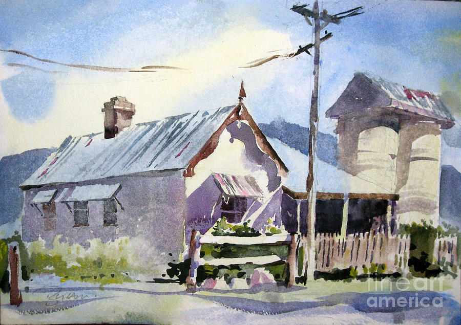Australian Farmhouse Painting by John Byram