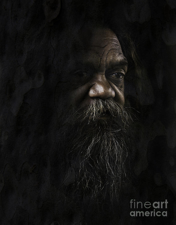 Textures Photograph - Australian Full Blood Aborigine by Sheila Smart Fine Art Photography