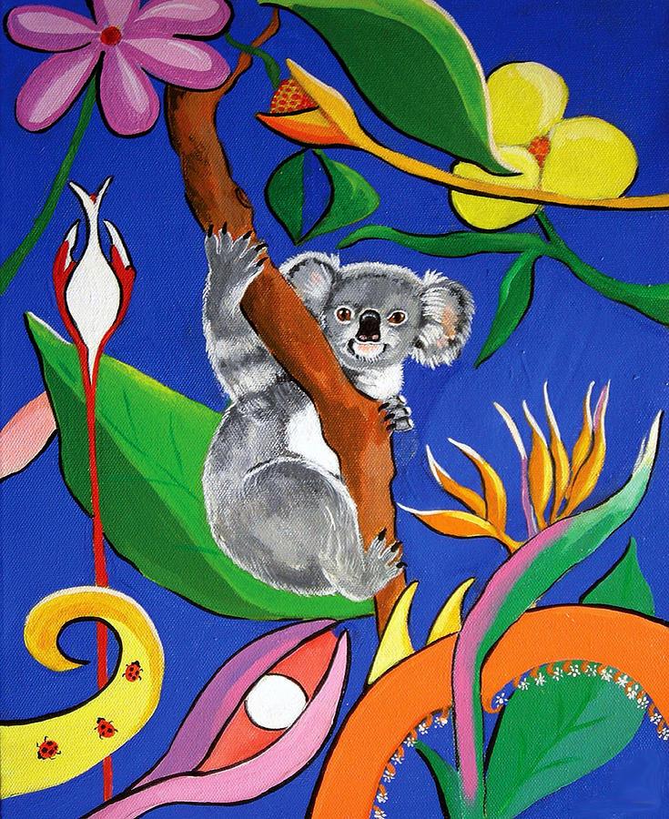 Australian Painting - Australian Koala by Gloria Dietz-Kiebron
