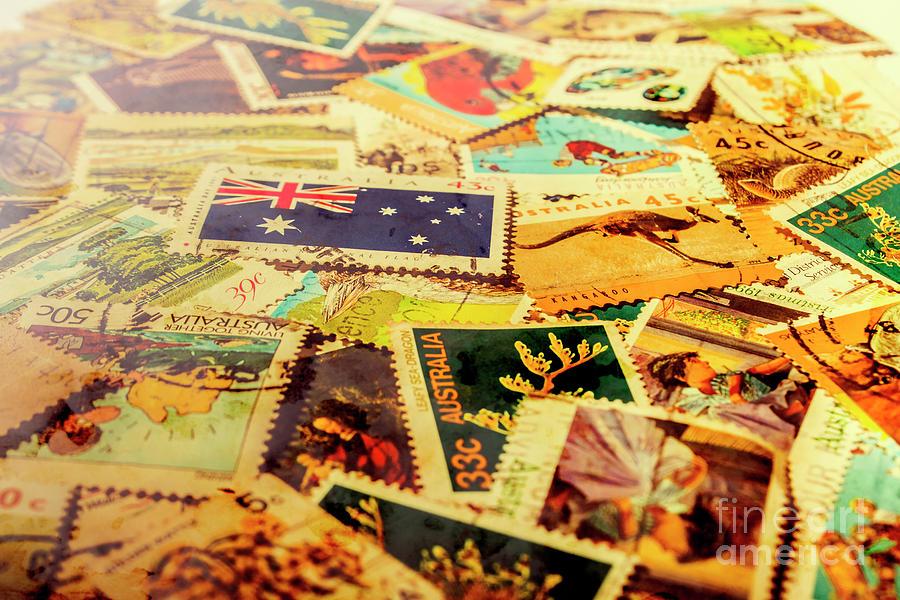 Letter Photograph - Australian Postal Background by Jorgo Photography - Wall Art Gallery