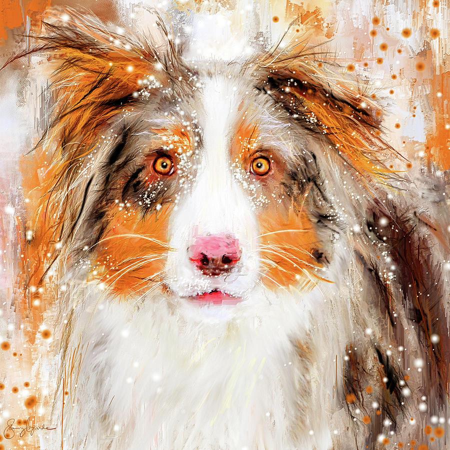 Australian Shepherd Paintings by Lourry Legarde
