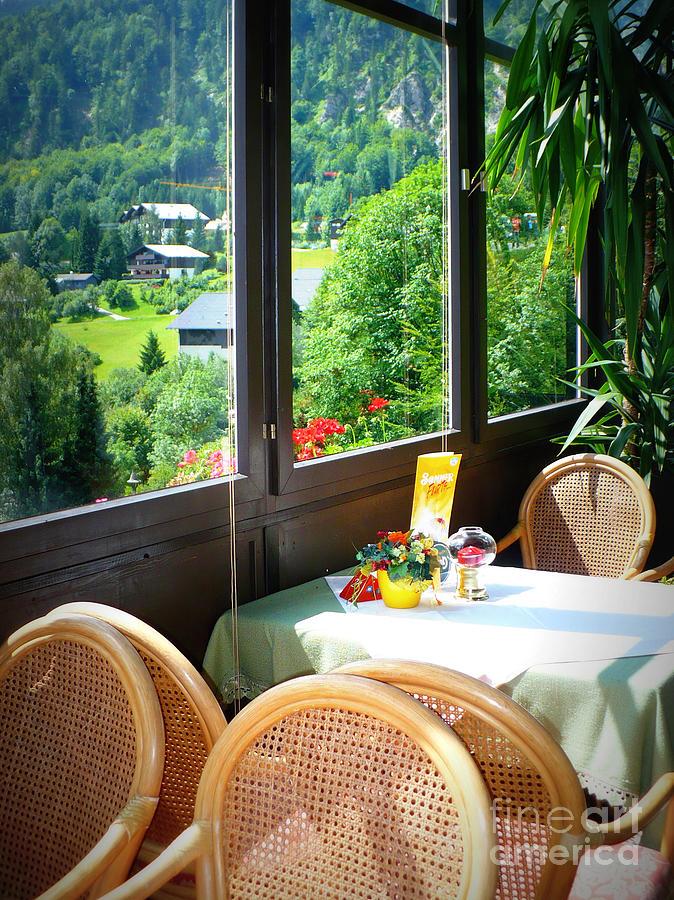 Austria Photograph - Austrian Cafe by Carol Groenen