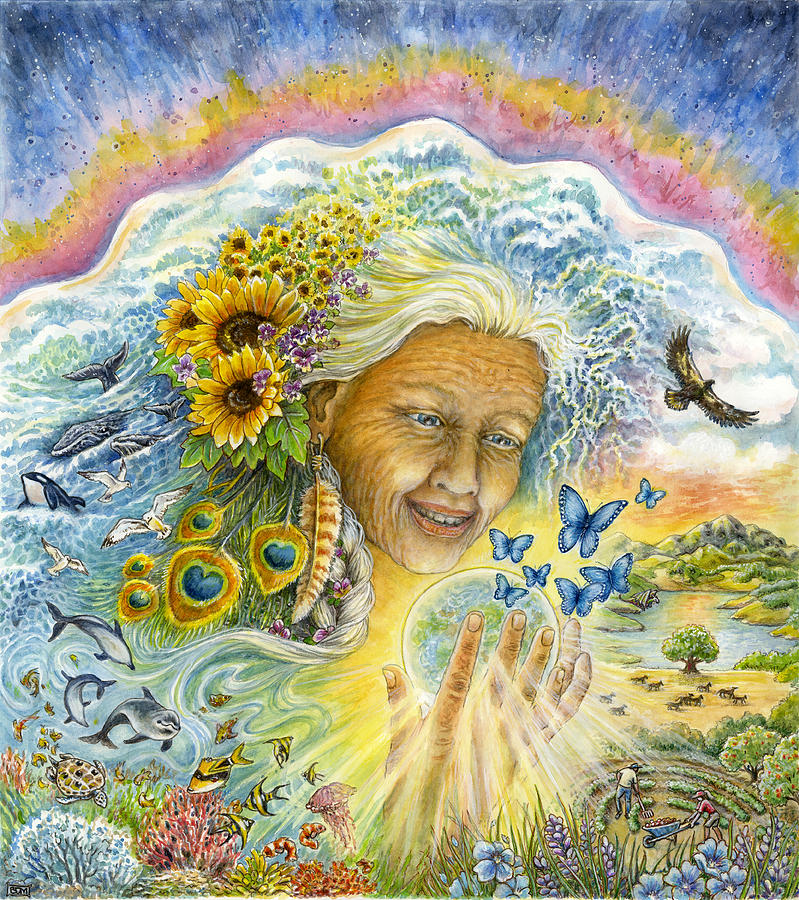 Gaia Painting - Great Mother by Mare Cromwell