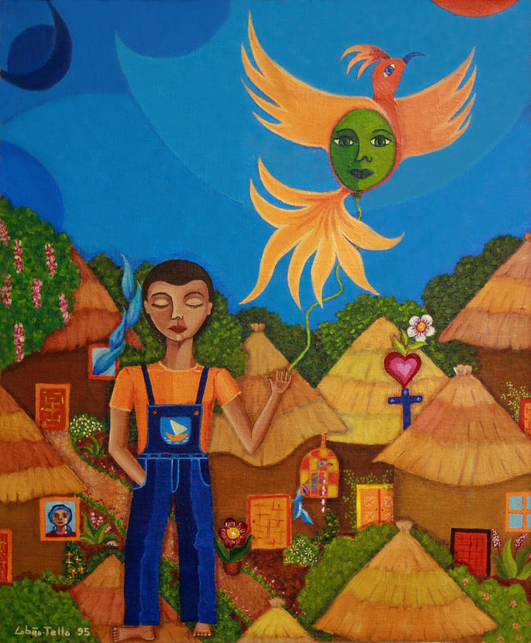 Autism Painting - Autism - A Flight To... by Madalena Lobao-Tello