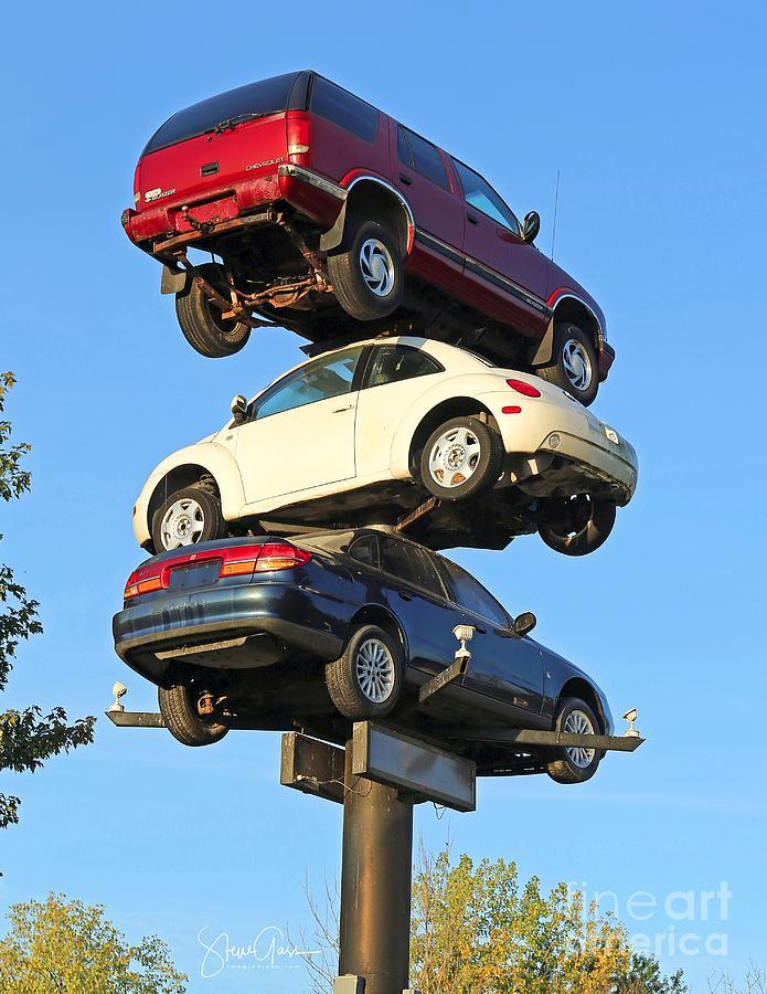 Car Photograph - Auto Pile Up by Steve Gass
