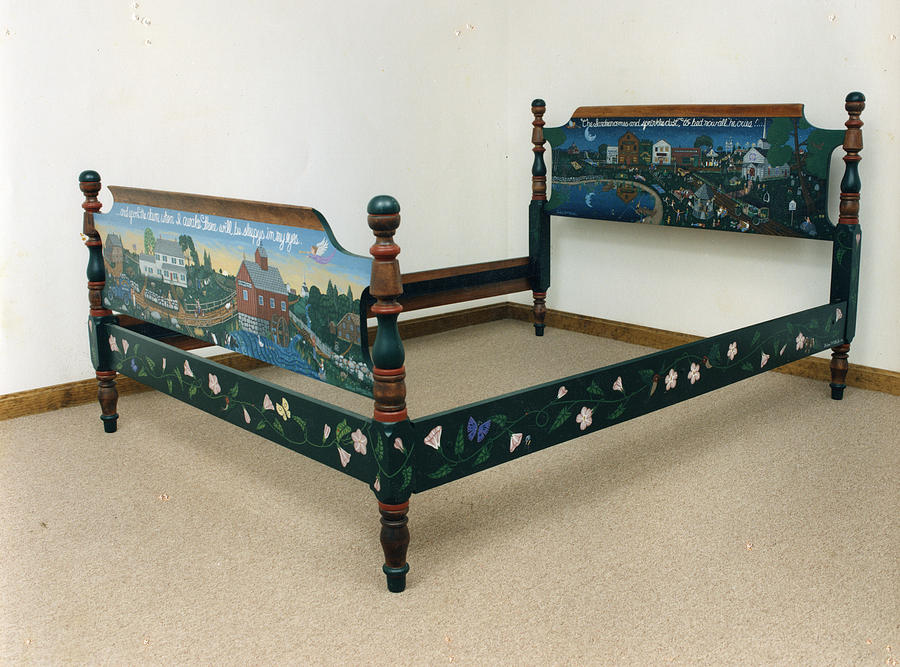 Painted Furniture Painting - Autobiographical Bedroom Set The Bedcomplete by James Mooney