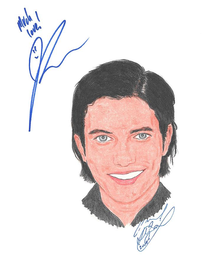 Autographed Drawing - Autographed Jackson Rathbone by Michael Dijamco