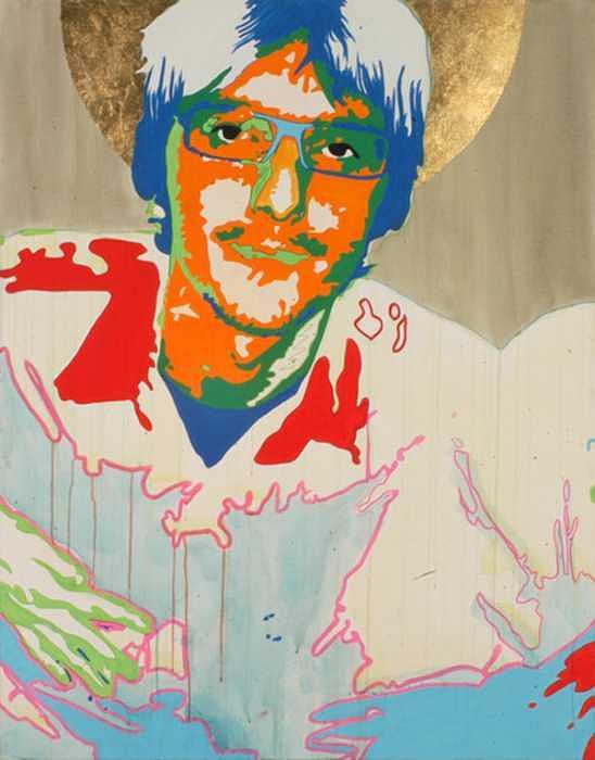 Portrait Painting - Automatic Portrait 01 by Pete Nawara