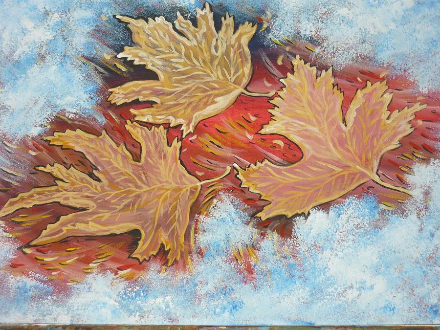 Leaves Painting - Automn   by Anna Dionia
