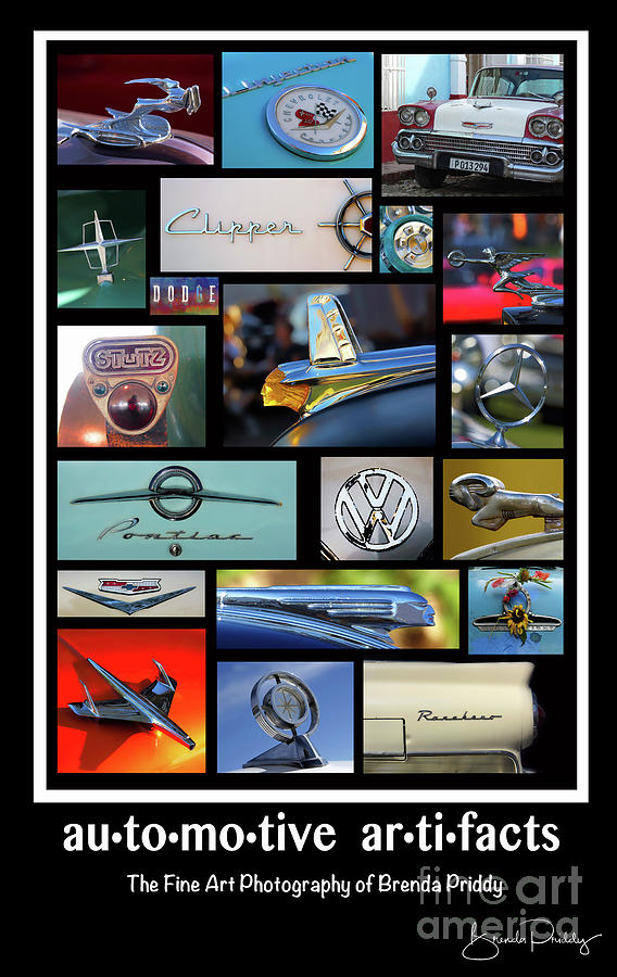 Automotive Artifacts - Poster 2 by Brenda Priddy