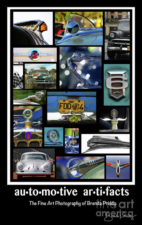 Automotive Artifacts - Poster  No.1 by Brenda Priddy