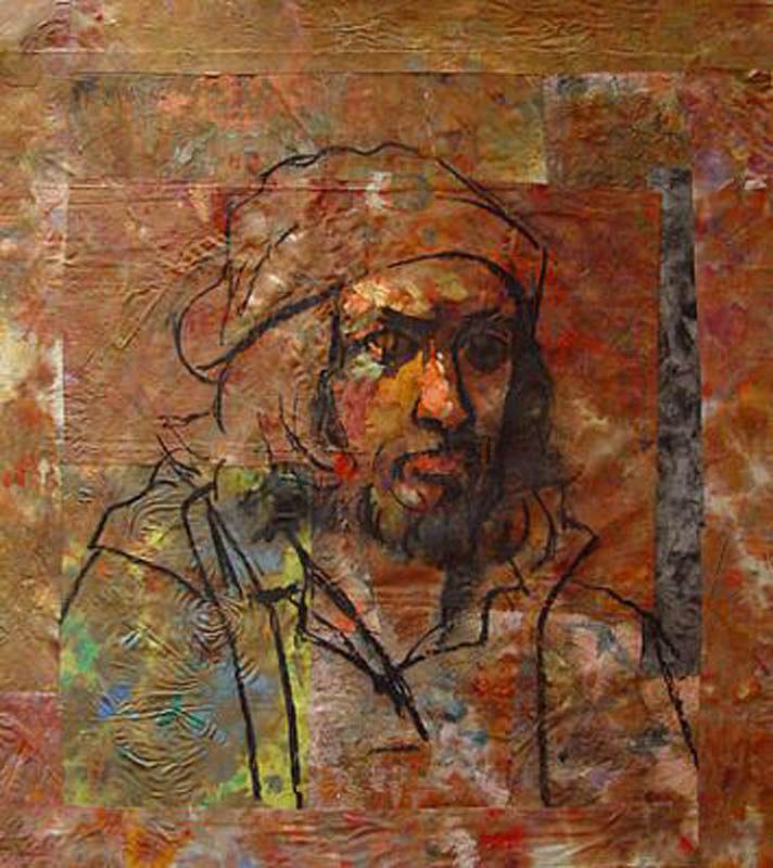 Spain Painting - Autoretrato by Ramon Gutierrez