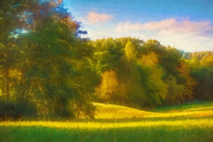 Autumn Glow Painting - Autumn Light 1 by Lutz Baar