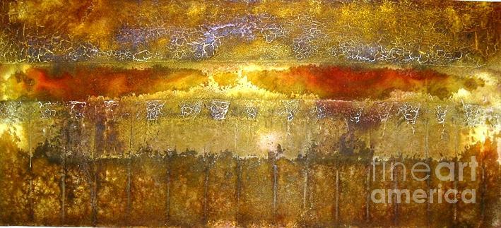 Landscape Painting - Autum Landscape by Mariette Flowie Van den Heever